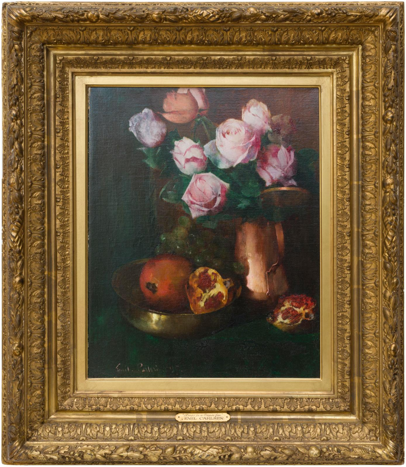 Roses in a Copper Jar