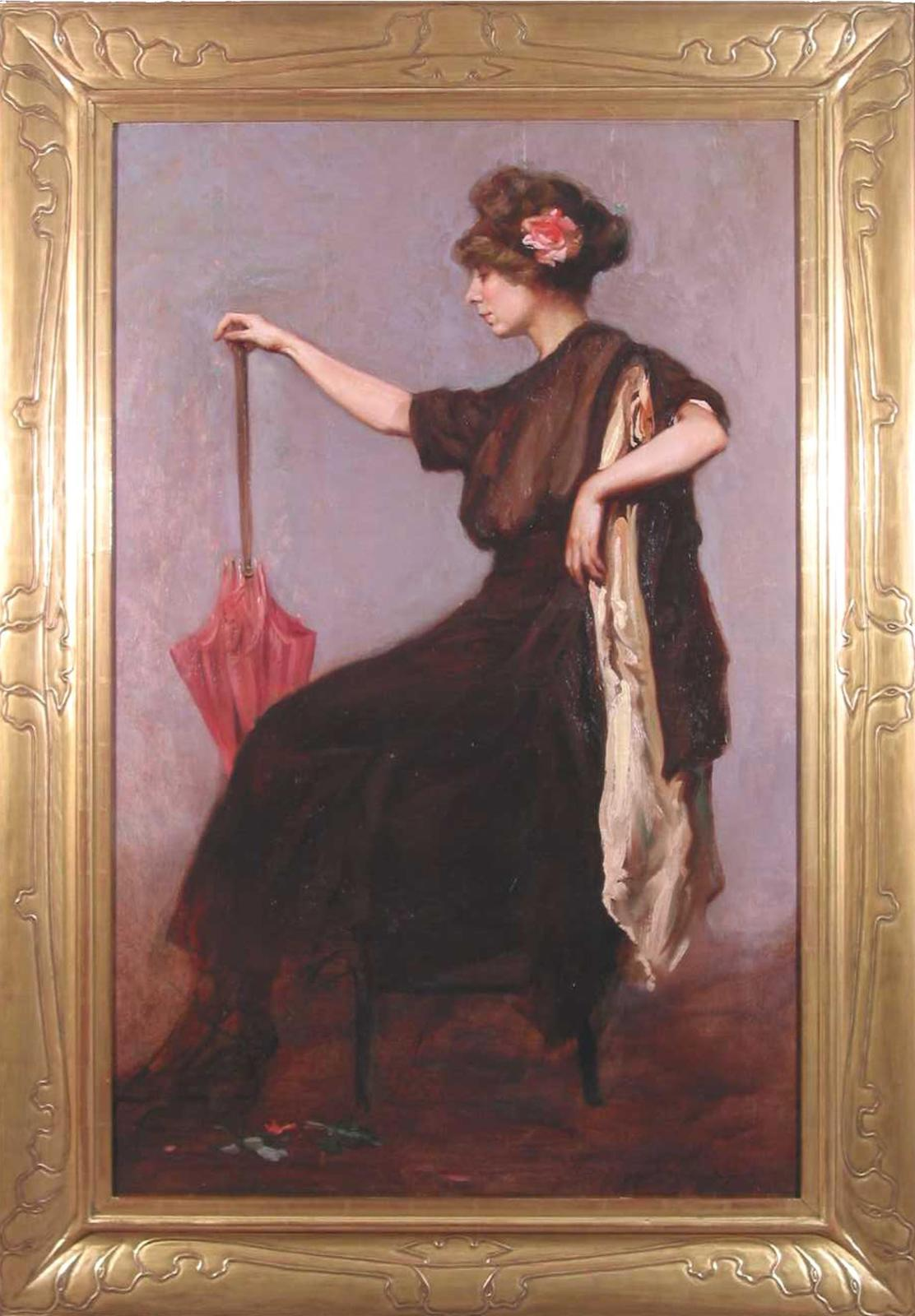 Woman with a Rose in Her Hair