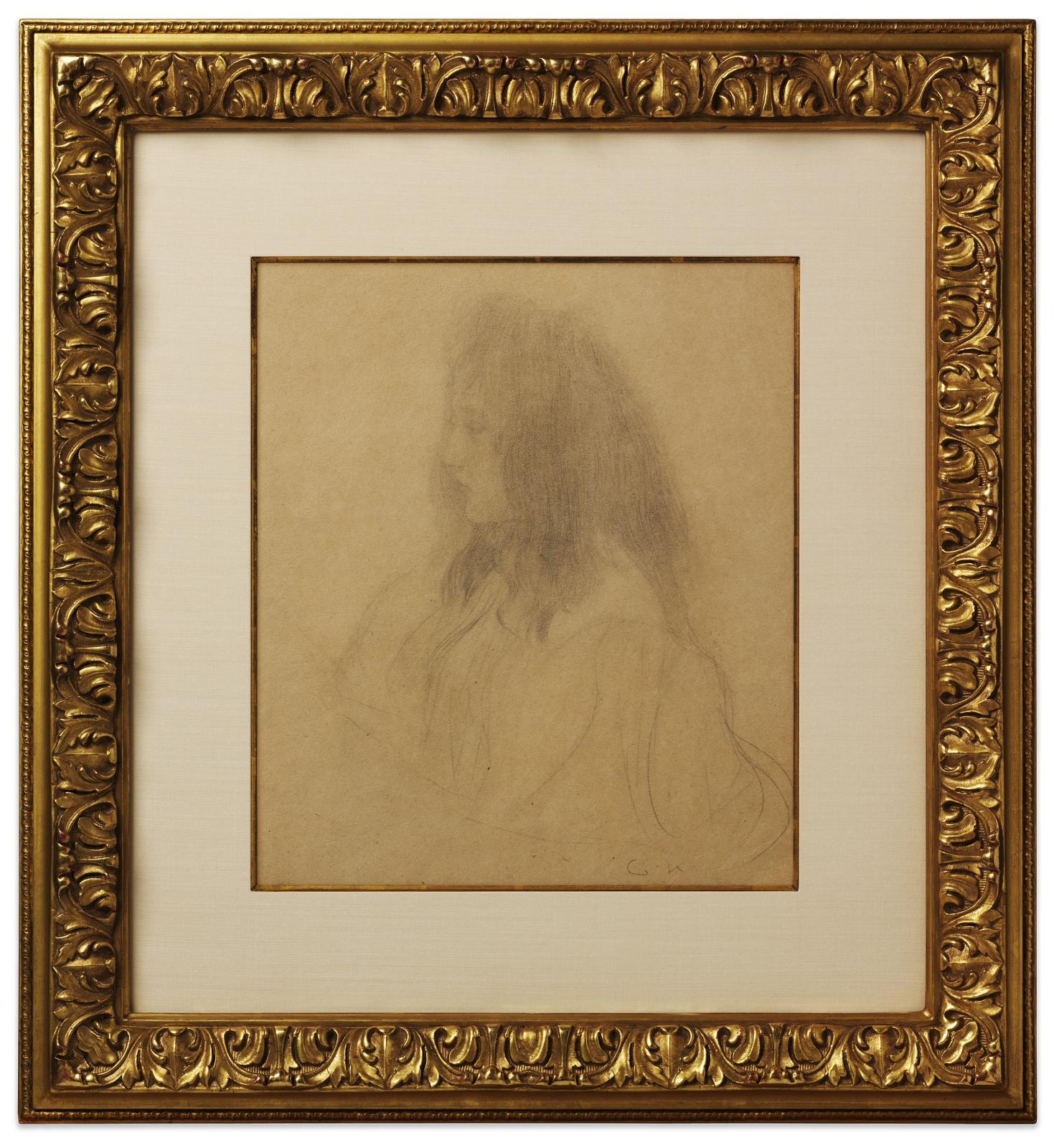 Brustbild eines Maedchens im Profil nach links