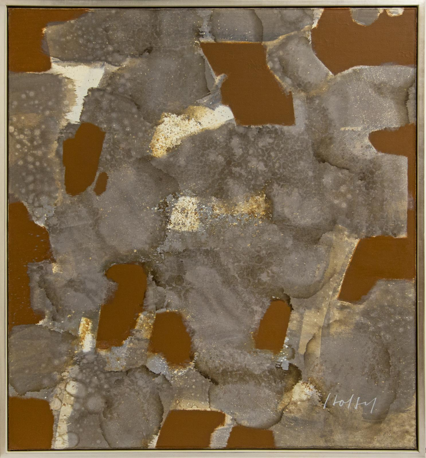 Gray Stains with Burnt Sienna Brushwork