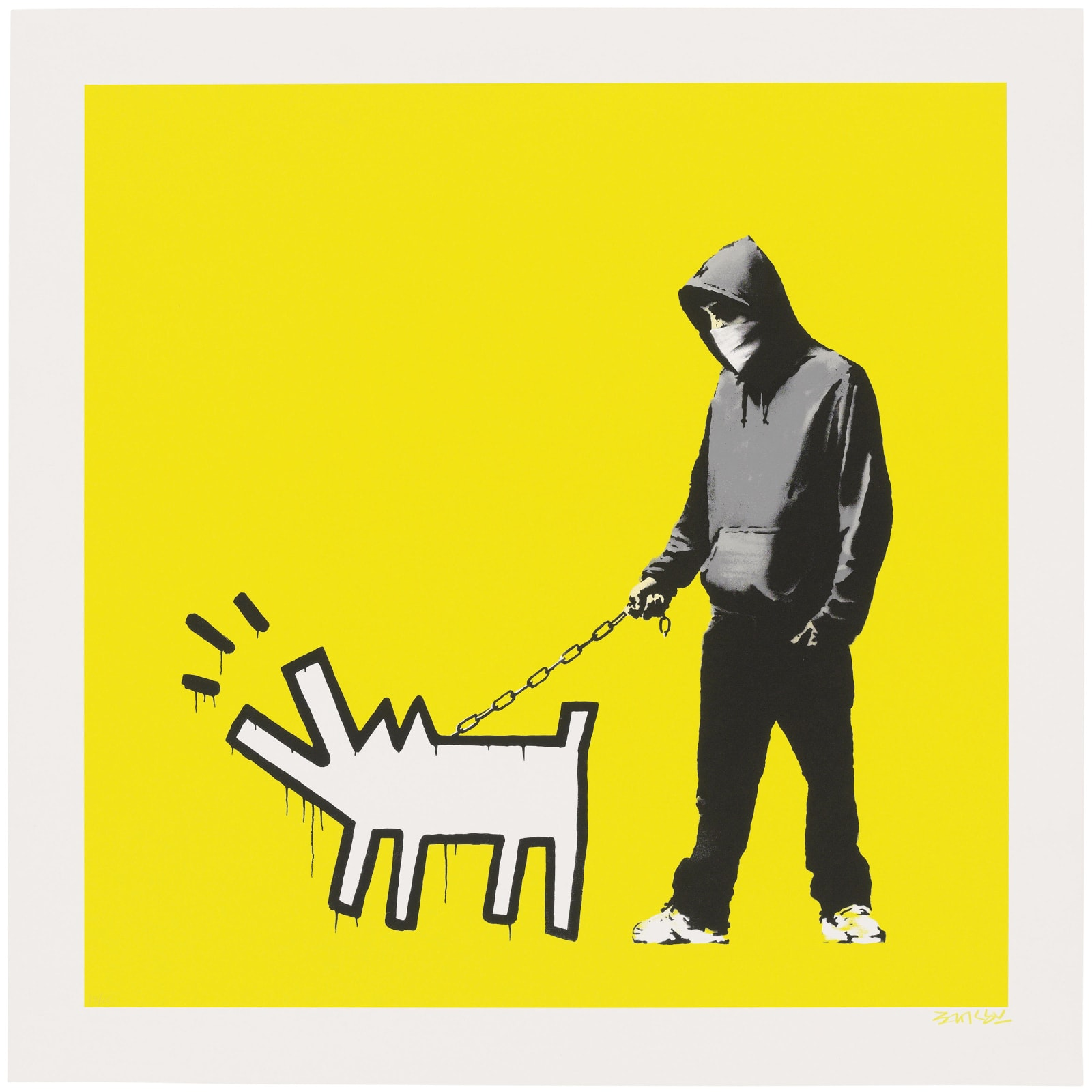 Banksy, Choose Your Weapon - Soft Yellow, 2010