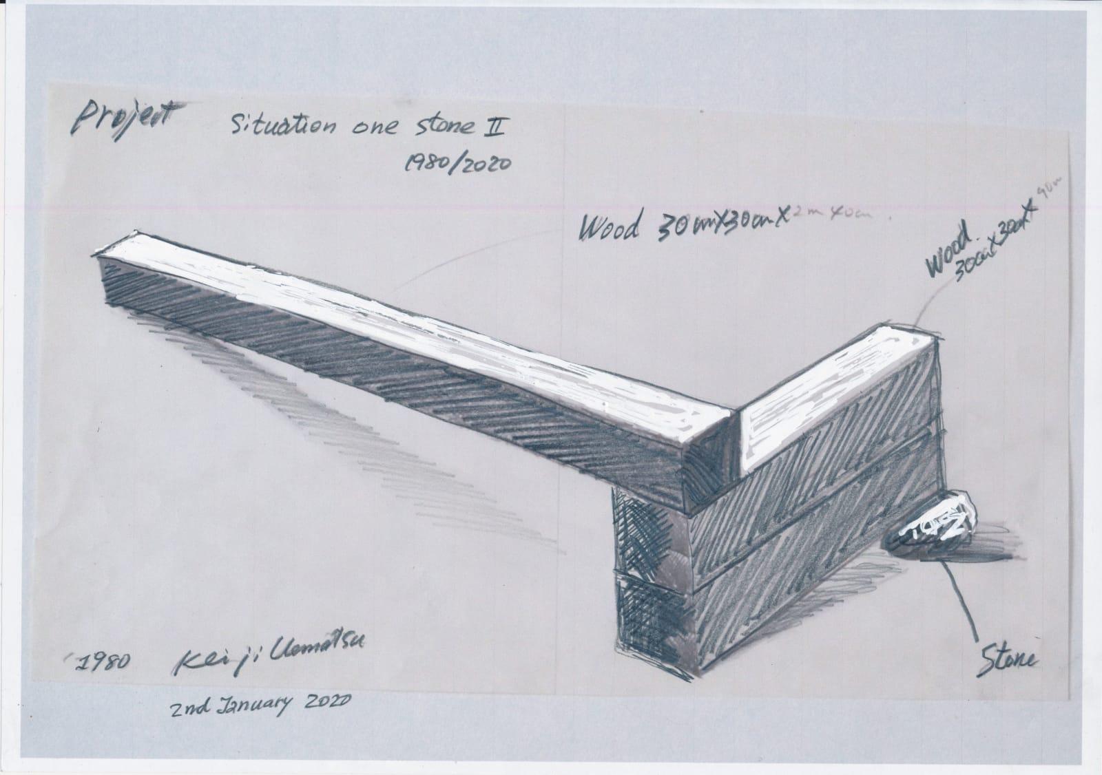 Keiji Uematsu, Situation One Stone II Drawing, 2020