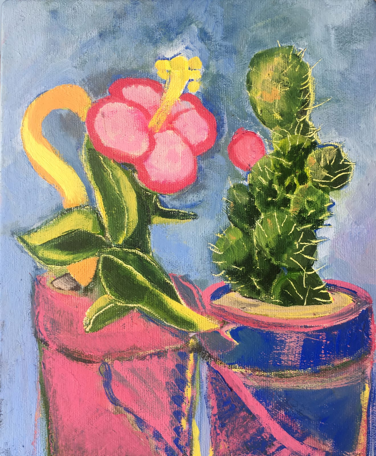 Ari Lankin, The Flower and The Cactus, 2018