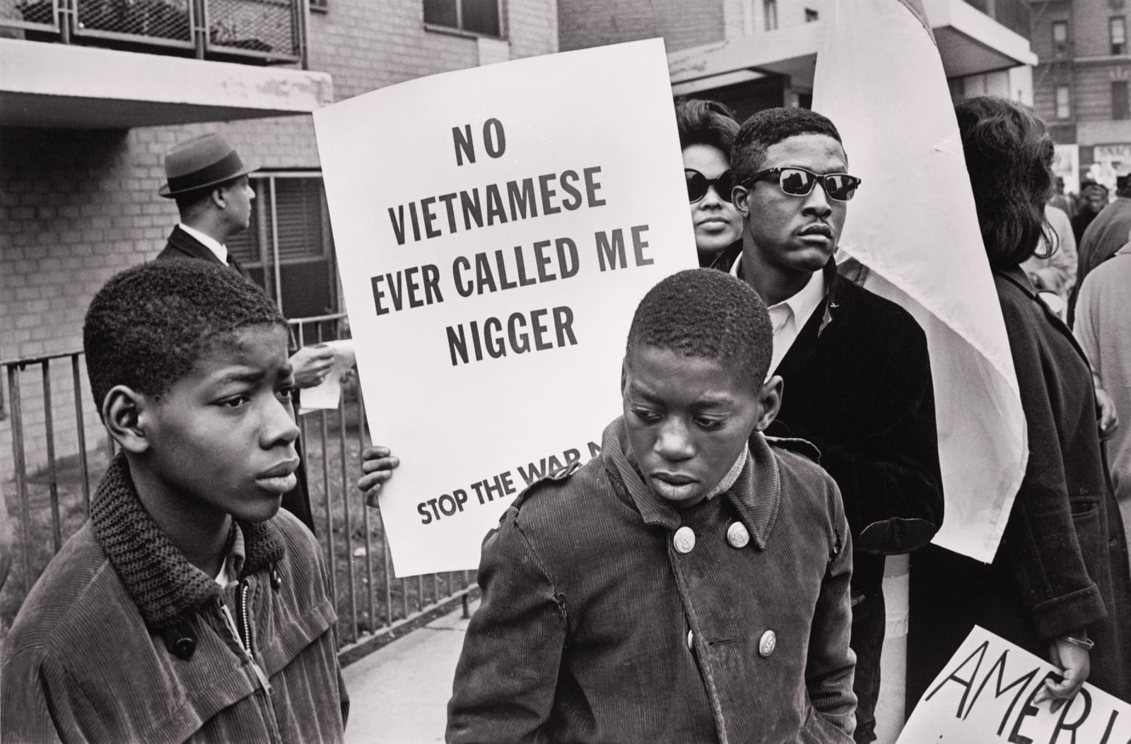 Builder Levy, Harlem Peace March (No Vietnamese..) NYC, 1967