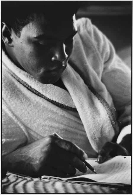 Gordon Parks, Muhammad Ali Writes a Letter, London, England, 1966