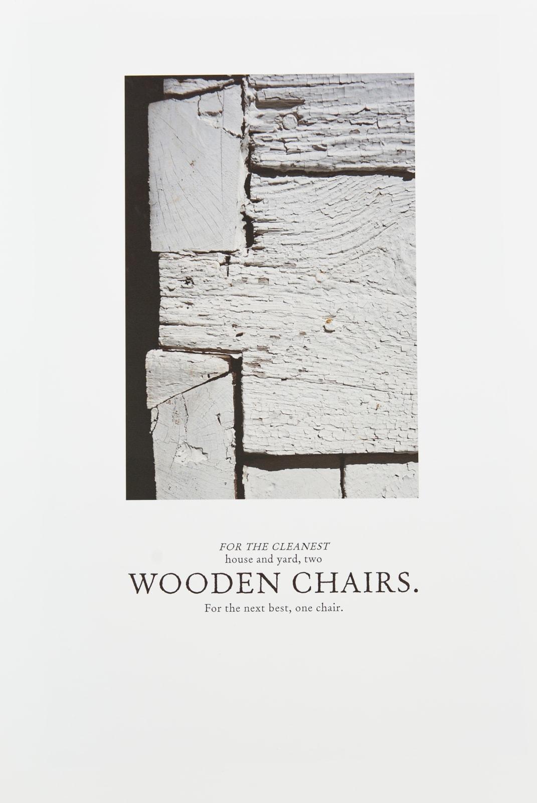 Keris Salmon, Chairs, 2020