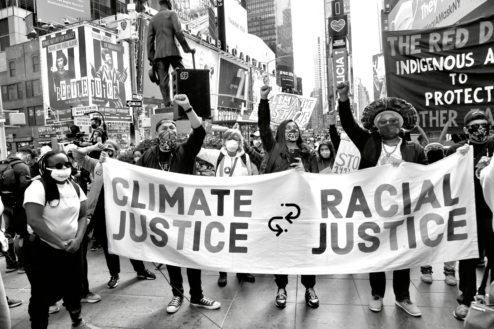 Builder Levy, March for Climate Justice and Racial Justice, 2020