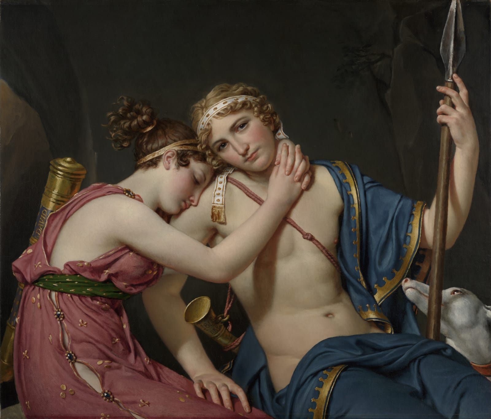 Jacques-Louis David, The Farewell of Telemachus and Eucharis, 1534