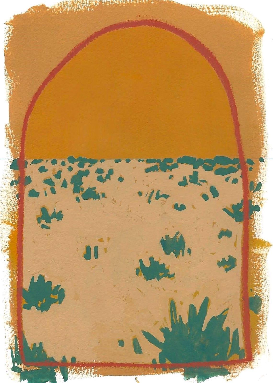 Layla Luna, Mini Desert Painting #03 (Bumblebees), 2018