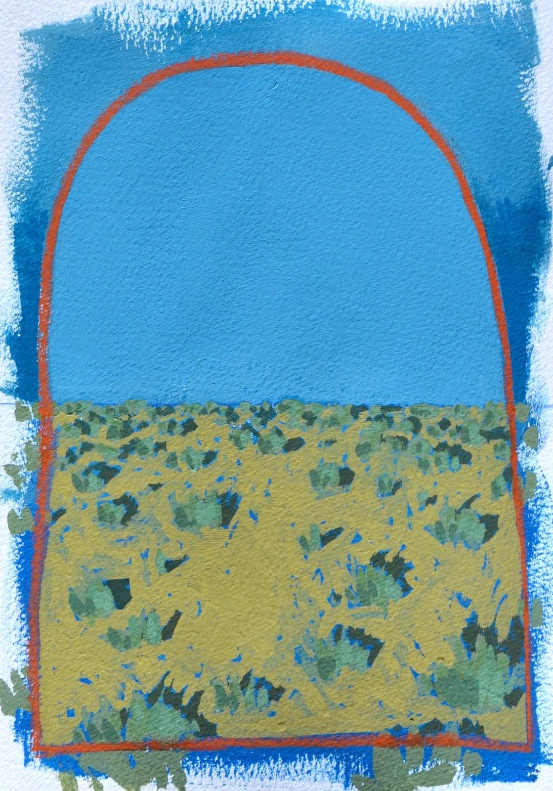 Layla Luna, Mini Desert Painting #06 (Completely), 2018