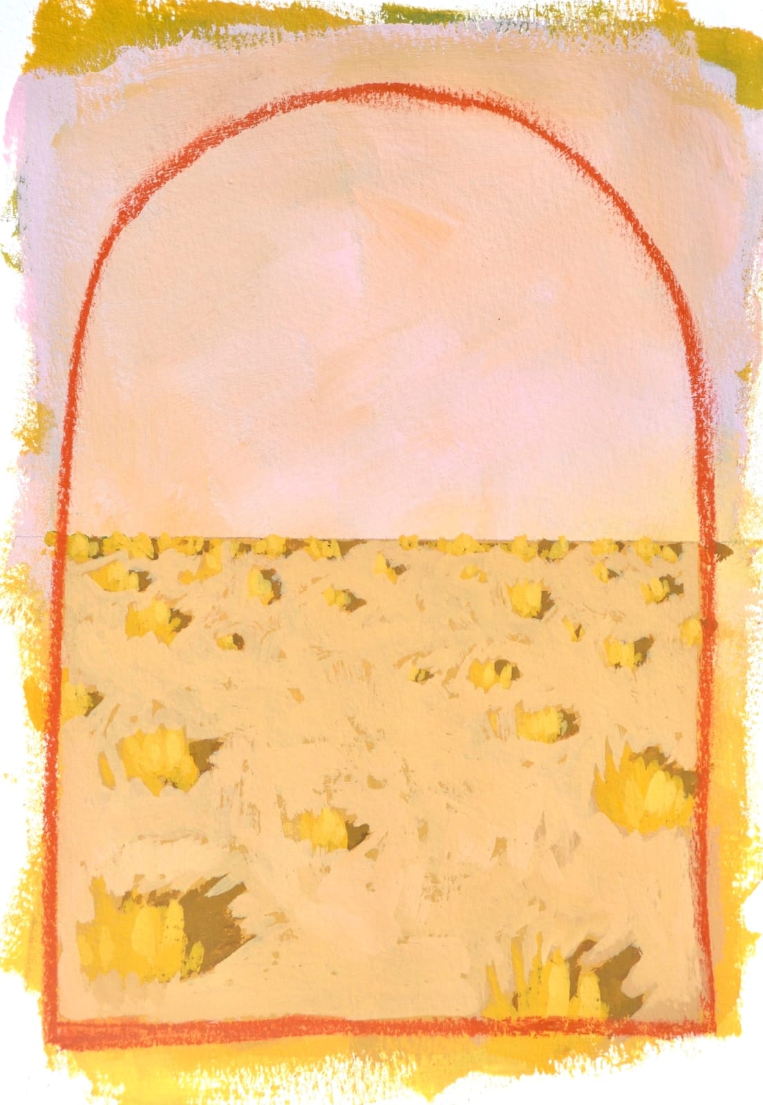 Layla Luna, Mini Desert Painting #05 (Fall), 2018