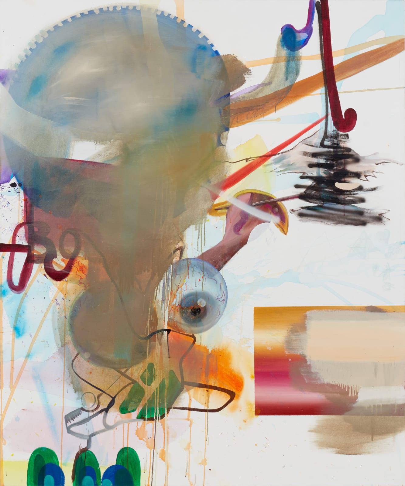 Albert Oehlen, Farbe in Bäumen [Colour in Trees], 2005