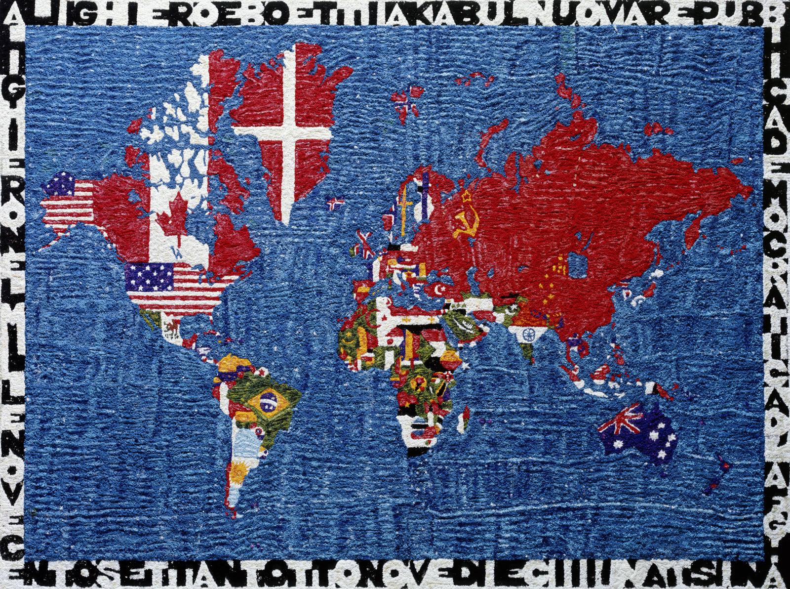 Cartina Del Mondo On Line.Vik Muniz Mappa Del Mondo After Alighiero Boetti Pictures Of Pigment 2009 Ben Brown