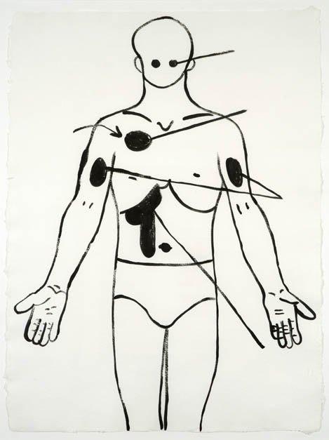 Andy Warhol, Physiological Diagram, c.1985-86