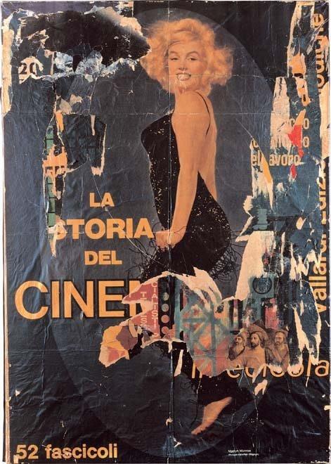 Mimmo Rotella, La Dernière Marilyn, 1966