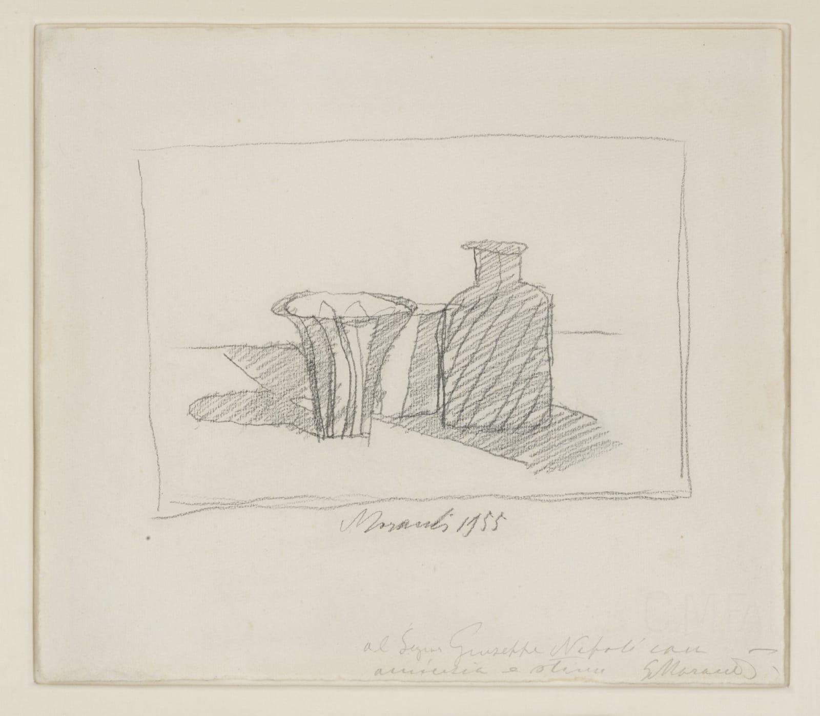 Giorgio Morandi, Natura Morta con Oggetti (recto e verso), 1955