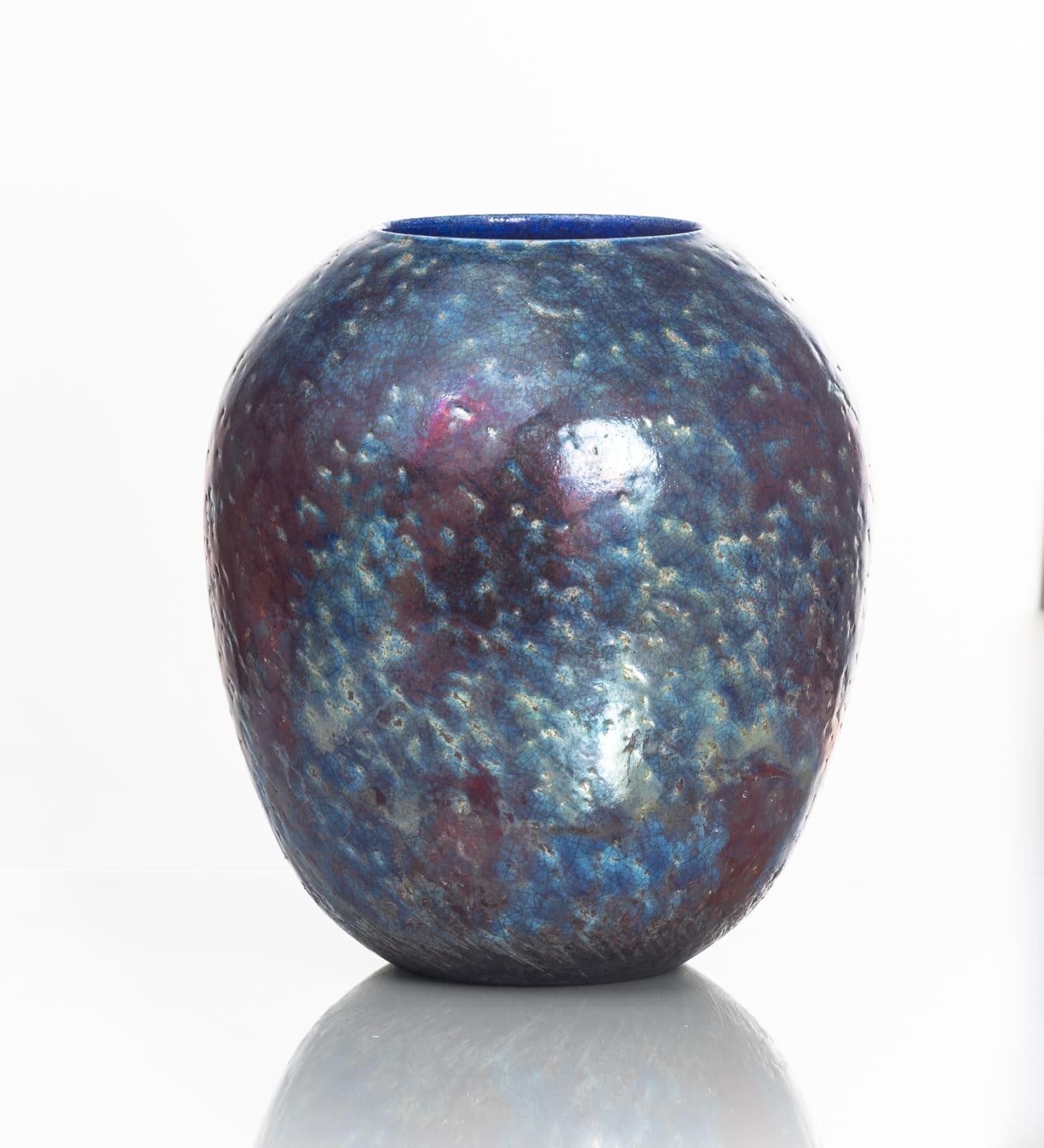 Neill Curran, Dark Blue & Copper Vessel, 2019