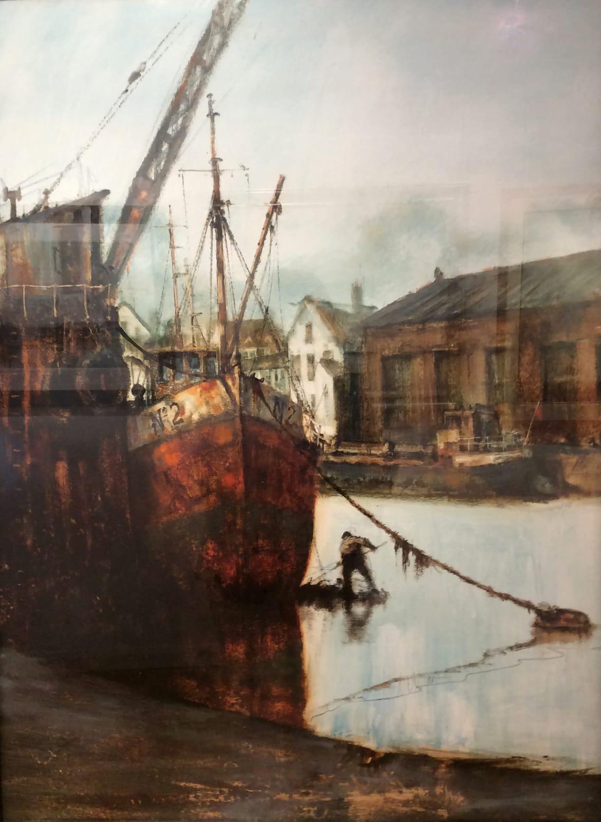 Anthony Amos, Trawler No 2 , moored up