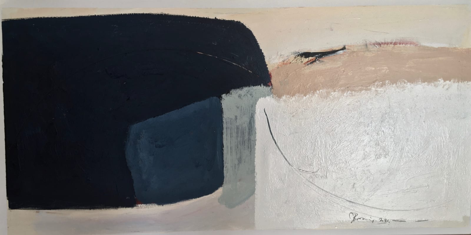Jerry Browning, Winter Rock, 2021