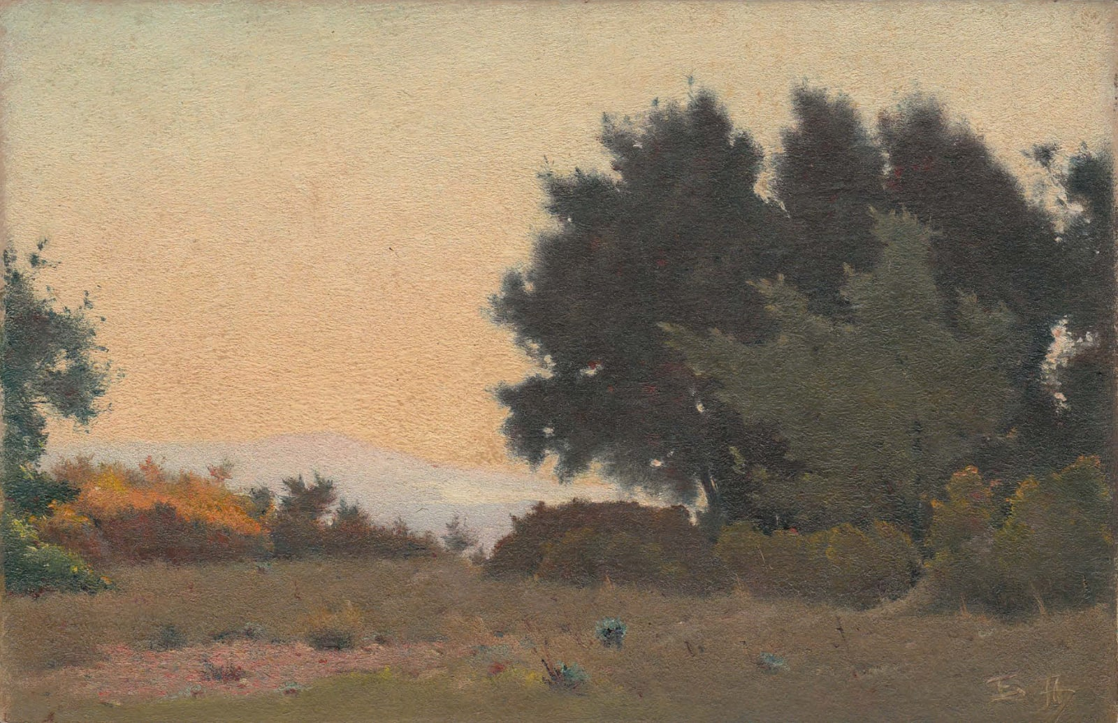 EDOUARD ATHÉNOSY, End of the day, 1917