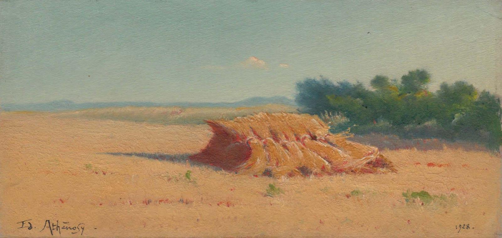 EDOUARD ATHÉNOSY, Six haystacks, 1928