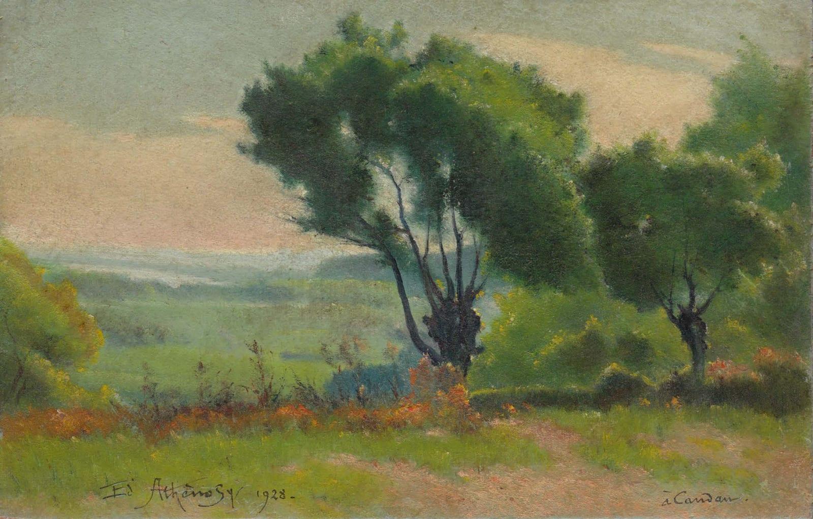 EDOUARD ATHÉNOSY, Inspired by Corot, 1928