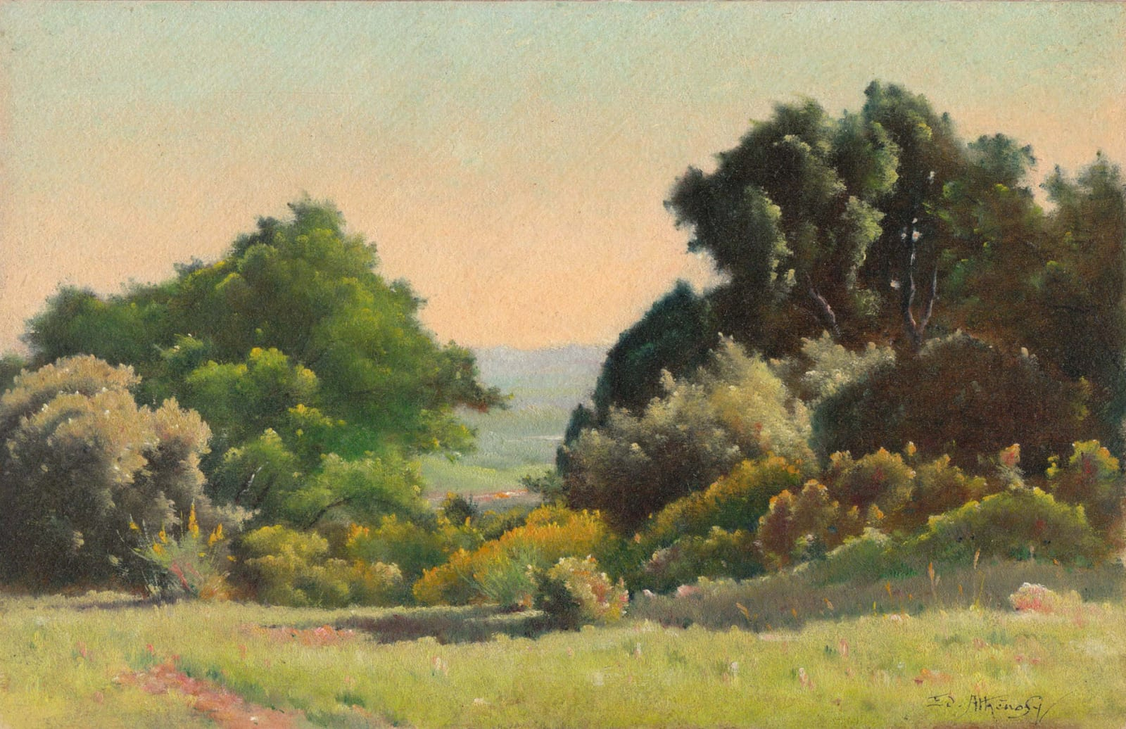 EDOUARD ATHÉNOSY, View to the plain, 1921