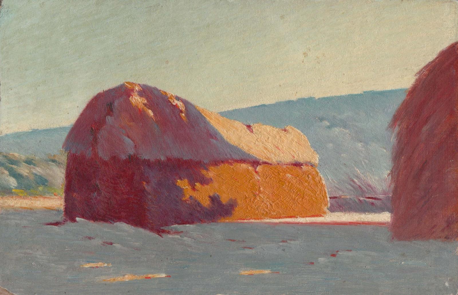 EDOUARD ATHÉNOSY, Haystack purple shadow, 1899
