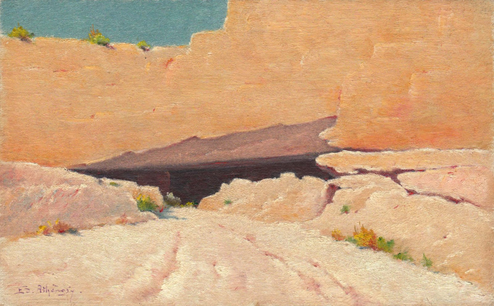 EDOUARD ATHÉNOSY, The entrance to the quarry, 1917