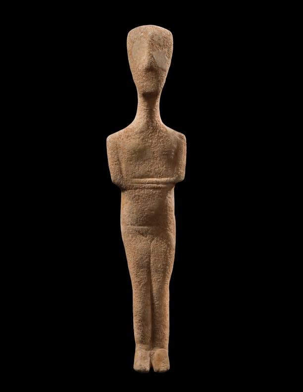 3. Female Idol Greek, Cycladic Period, third millennium B.C.