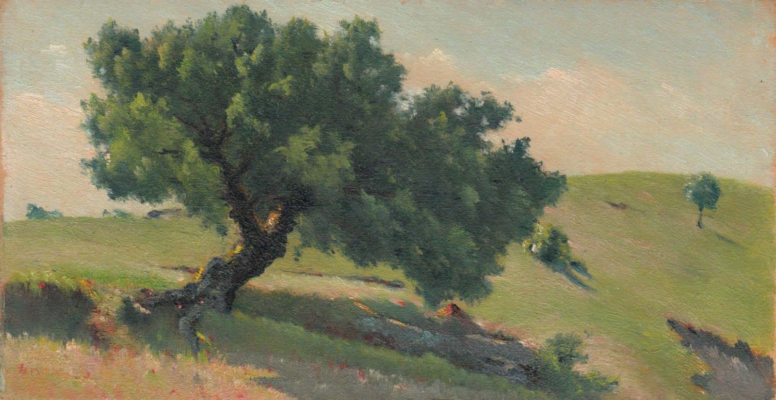 EDOUARD ATHÉNOSY, The falling tree, 1914