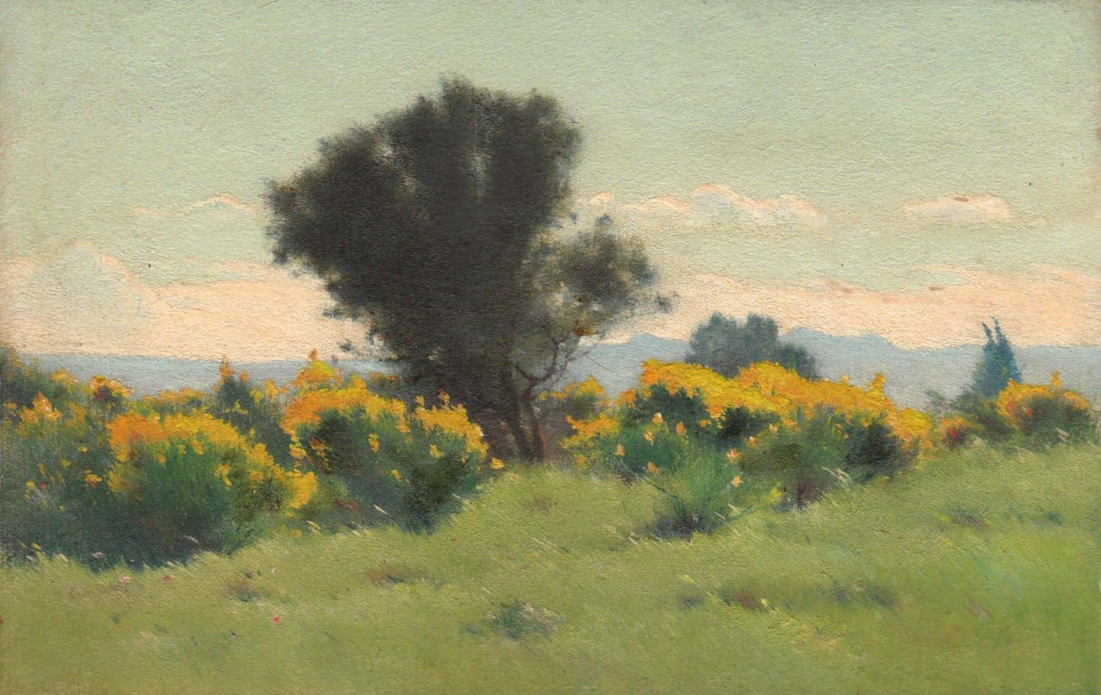 EDOUARD ATHÉNOSY, Brooms with olive tree, 1925