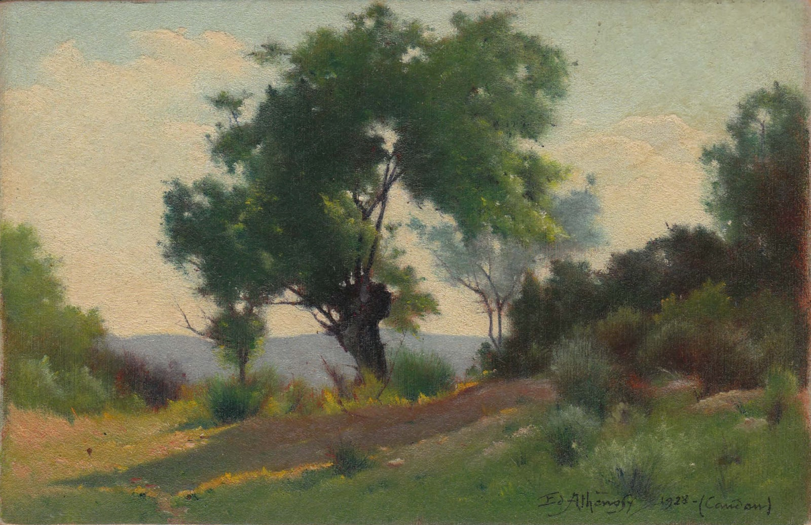EDOUARD ATHÉNOSY, A little Corot, 1928