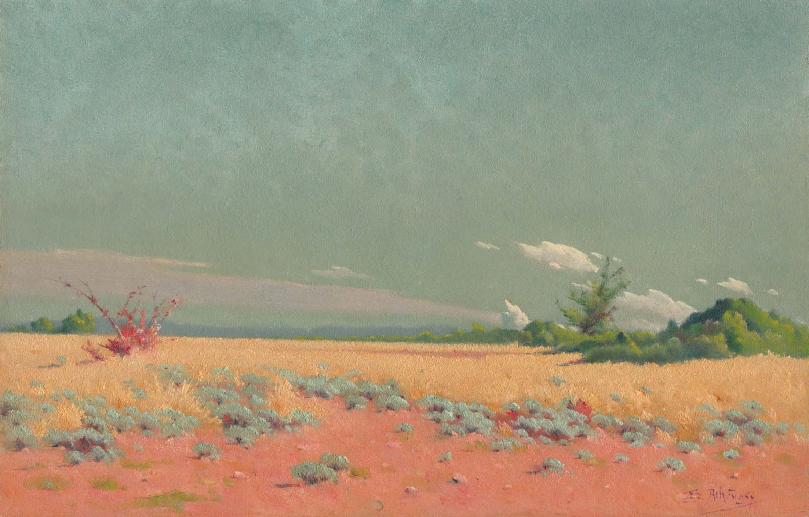 EDOUARD ATHÉNOSY, A dry summer, 1917