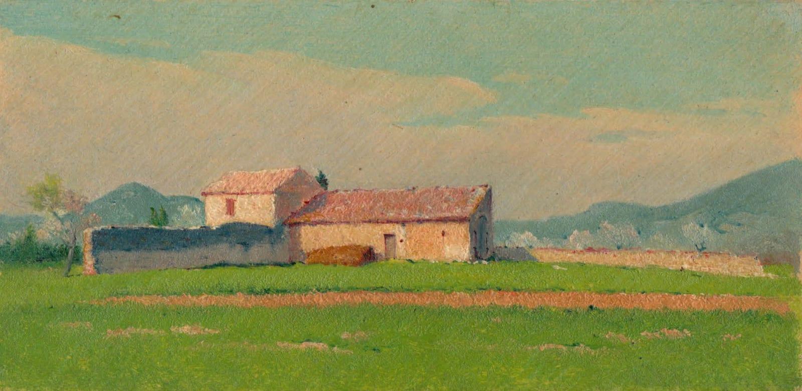 EDOUARD ATHÉNOSY, The abandoned farmhouse, 1915