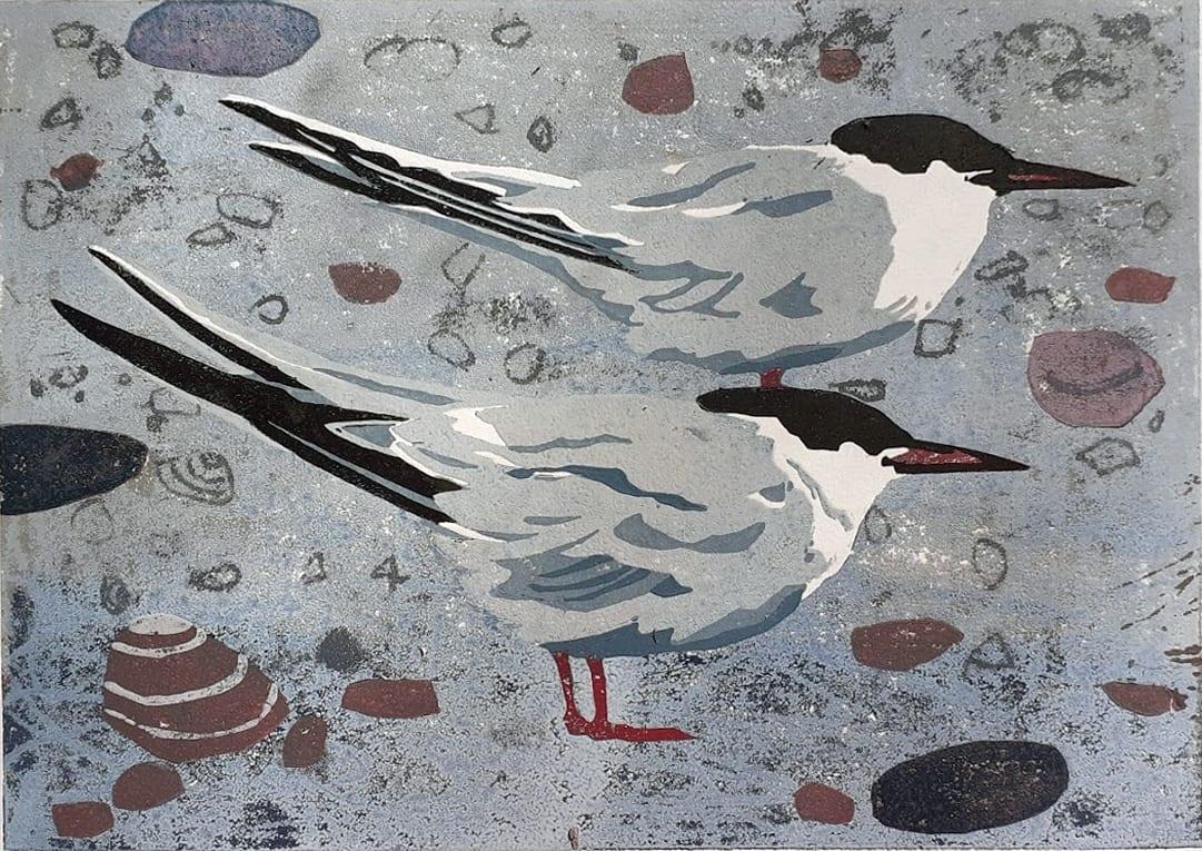 Ann Lewis RCA, Two Terns II, 2021