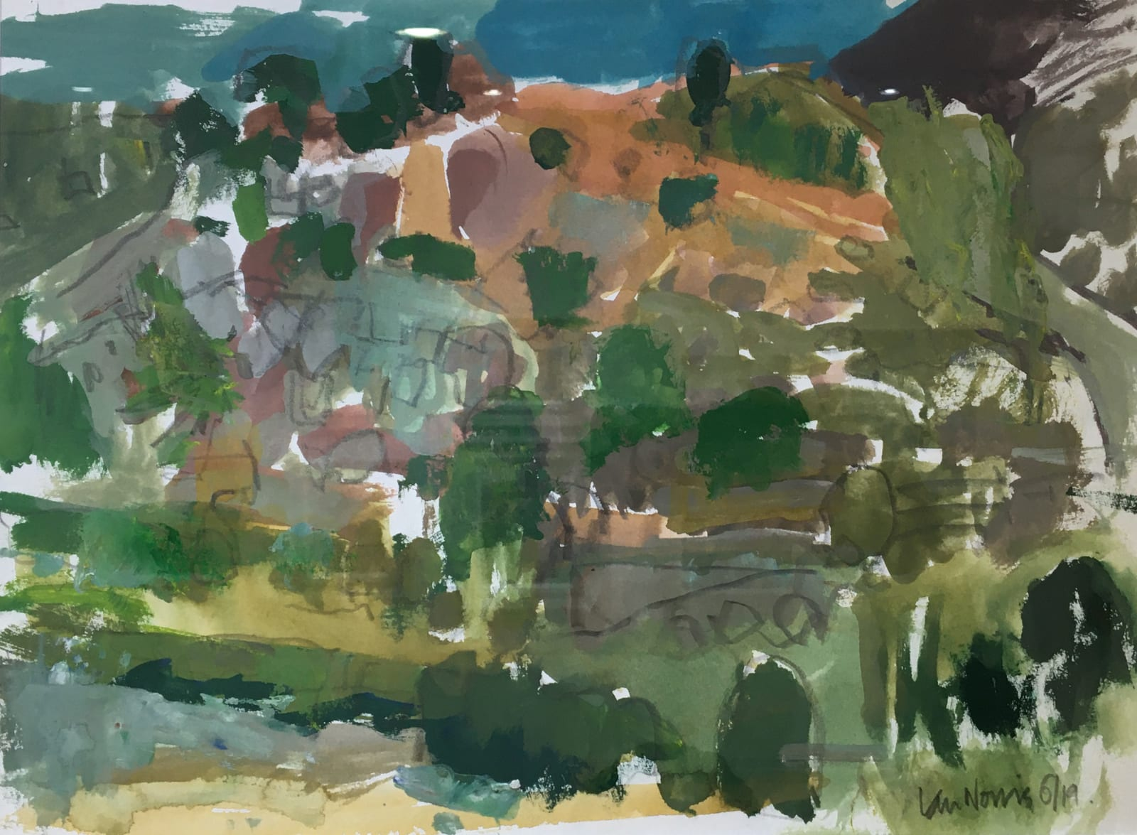 Ian Norris MAFA, From the Terrace, Early Morning