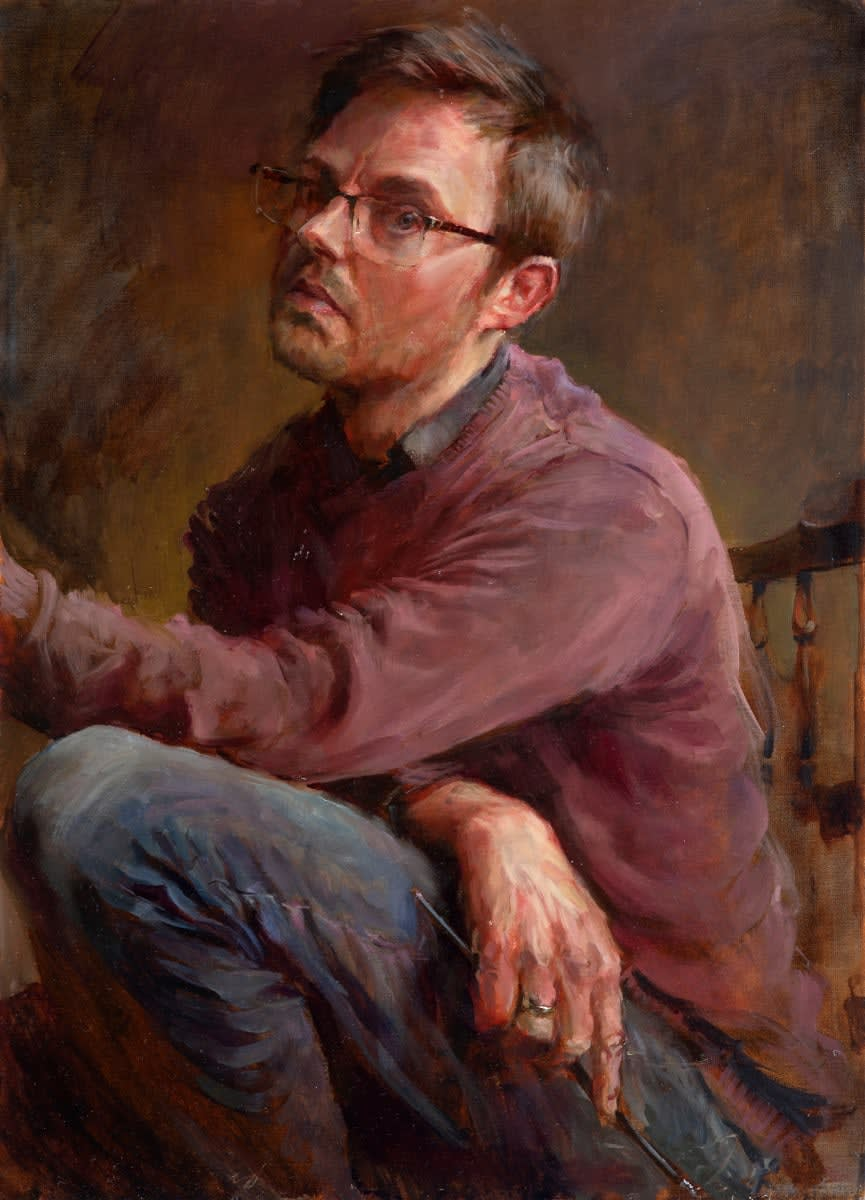 Rob Pointon ROI, Lockdown Self Portrait, 04/2020
