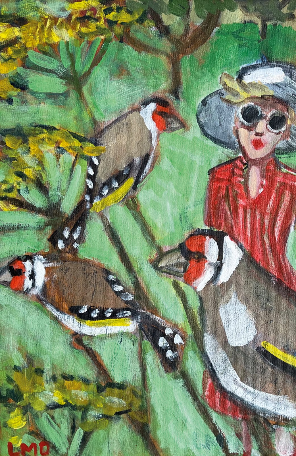 Lucy Dickens, Watching the Goldfinches