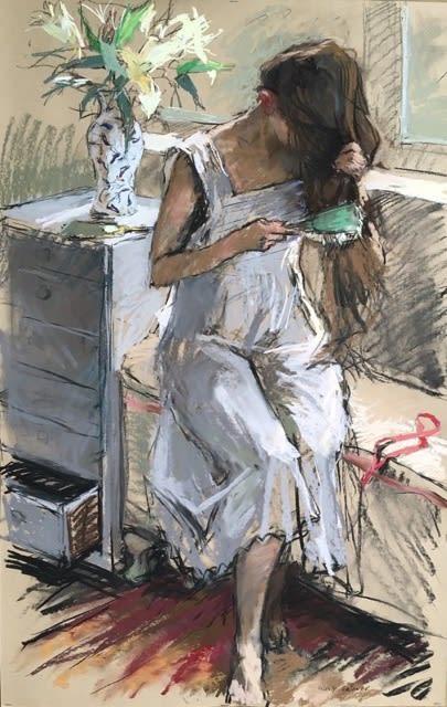 Valeriy Gridnev, The Girl Brushing her Hair