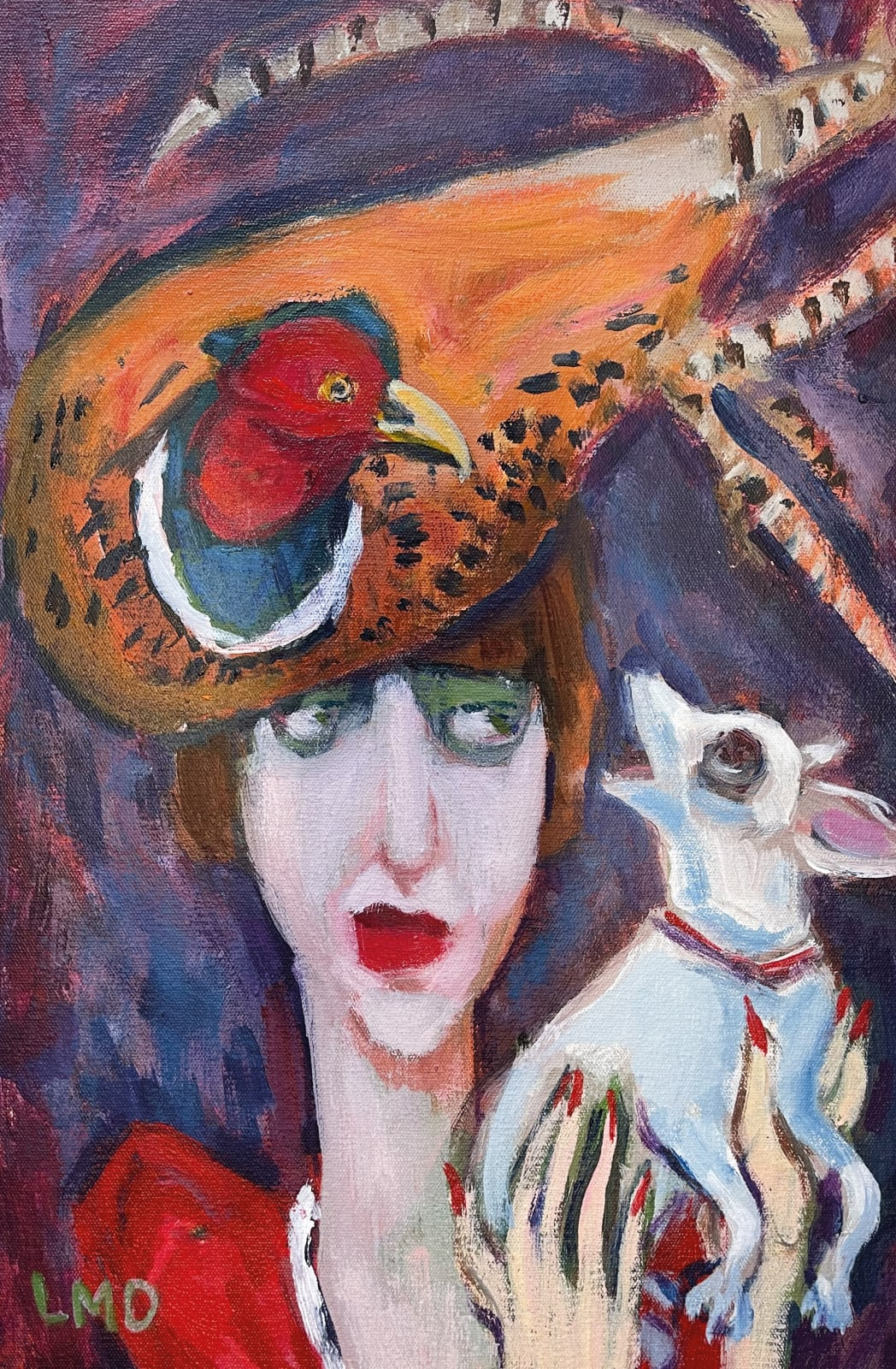 Lucy Dickens, Girl in Pheasant Hat (Remembering Isabella Blow)