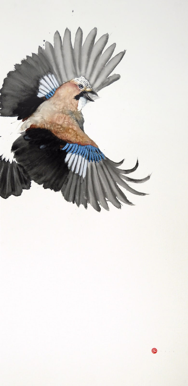 Karl Martens, Jay Flying I (Unframed)