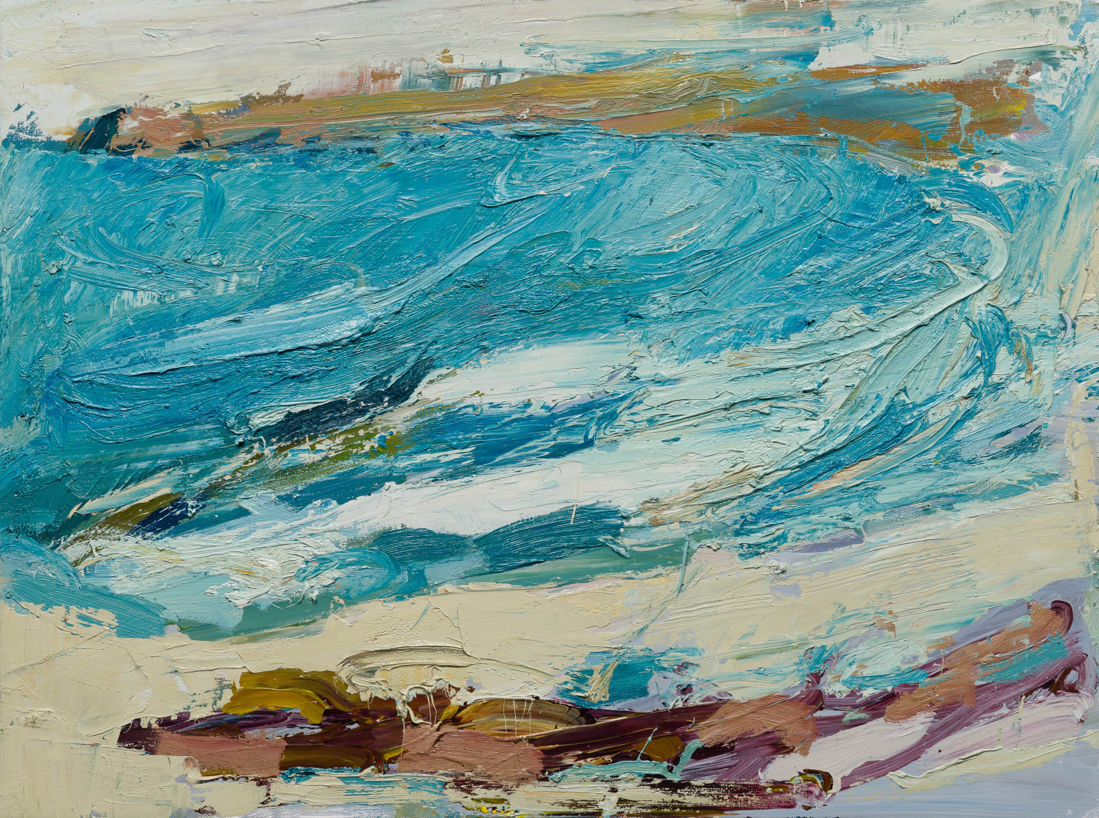 Paul Wadsworth, Winters Surf on a Blue Day
