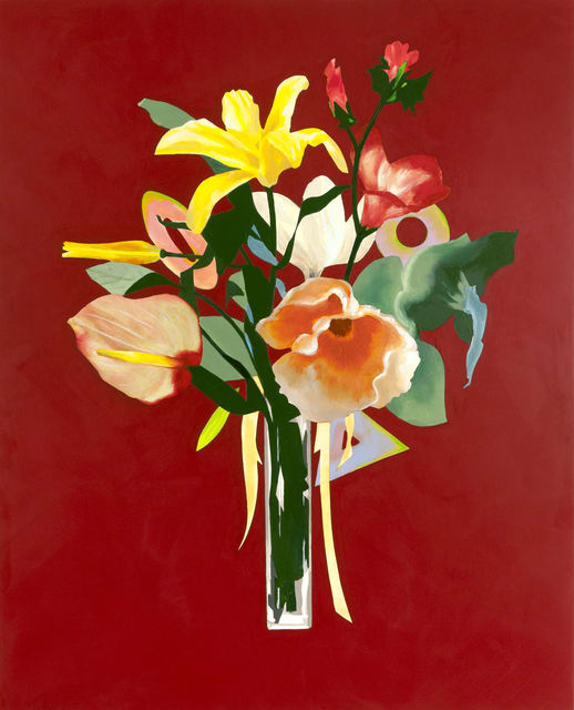Roland Reiss, Unrepentant Flowers: Solid Red, 2016