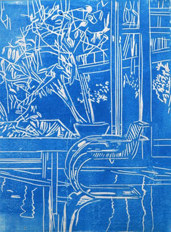 Eamon O'Kane, Blue Interior, 2020