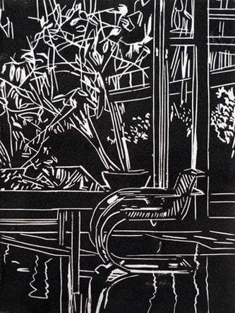 Eamon O'Kane, Black Interior, 2020