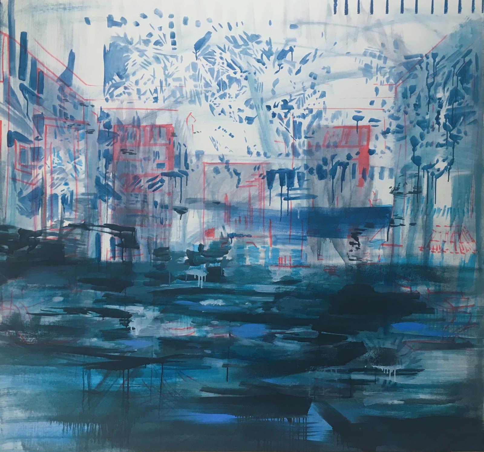 Elizabeth Schwaiger, Interior Red and Blue, 2019