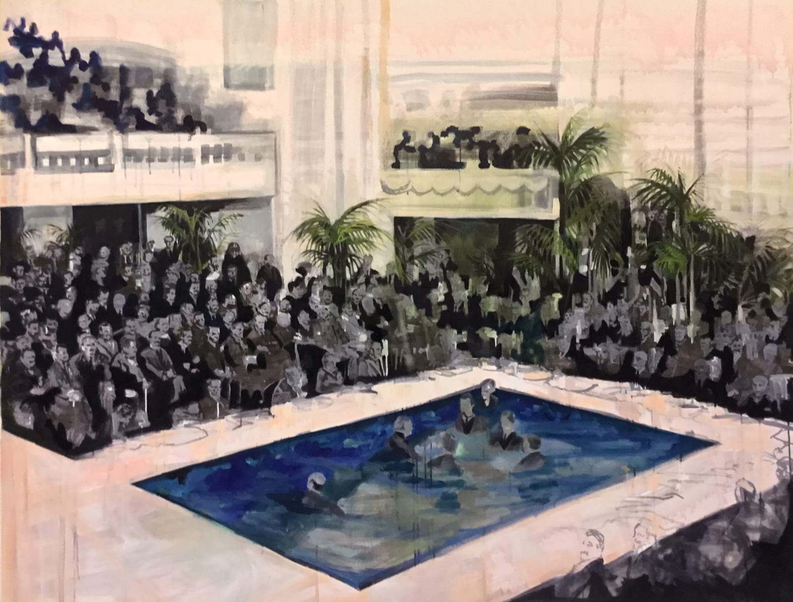 Elizabeth Schwaiger, Pool Crowd, 2016