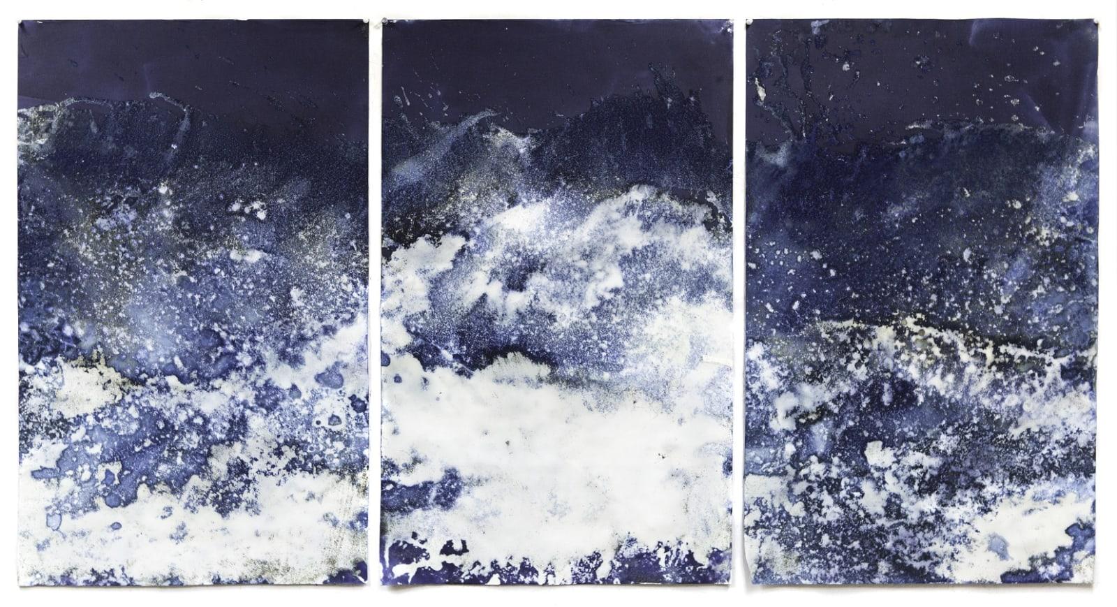 Meghann Riepenhoff 梅根·瑞普霍夫, Littoral Drift #200 (Recto, Fay Bainbridge Beach, WA 02.02.15, Two Waves, Poured and Buried), 2015