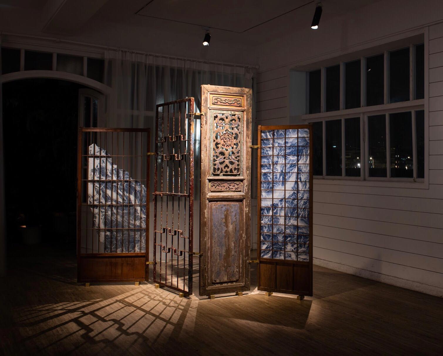 Wu Chi-Tsung 吳季璁, Wrinkled Texture - Folding Screen 001 皴法習作 屏風之一, 2019